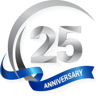 Celebrating 25 years in business.
